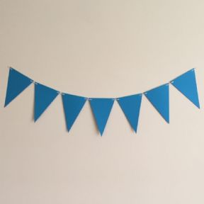 Ocean Blue Wedding and Party Bunting - 4 Meter Kit